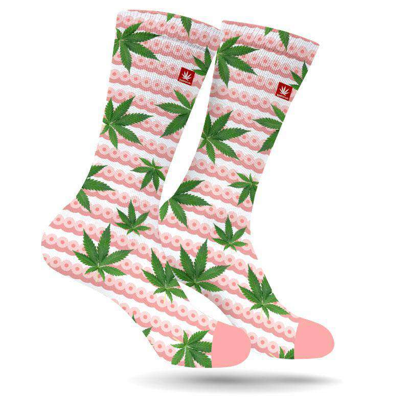 BOOBS AND BUDS CANNABIS SOCKS BREAST CANCER AWARENESS MONTH