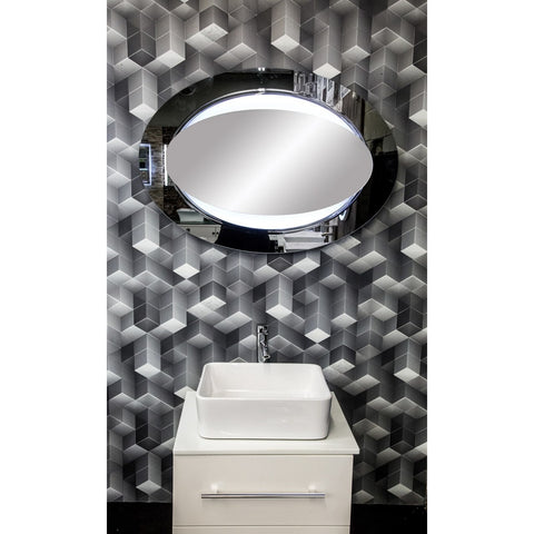 "MTD Vanities Paris DL44 Sensor Activated LED Illuminated Mirror - 39.4"" x 27.5"" - BathVault"