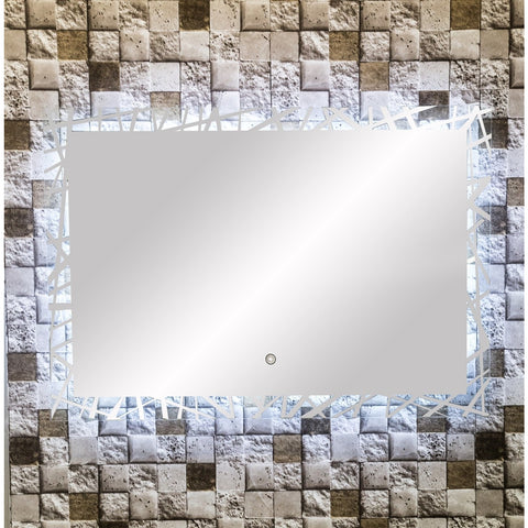 "MTD Vanities Vadara DL48 Touch/Sensor Activated LED Illuminated Mirror - 39.4"" x 27.6"" - BathVault"
