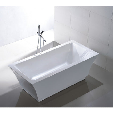 "Legion Furniture 67"" Double Ended White Freestanding Tub - WE6817 - BathVault"