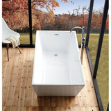 "Legion Furniture Freestanding Bathtub - White Acrylic 67"" WE6844 - BathVault"