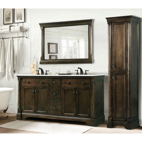"Legion Furniture 60"" Double Sink Bathroom Vanity WLF6036-60 - BathVault"
