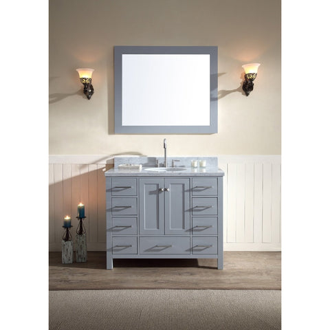 "ARIEL Cambridge 43"" Single Undermount Sink Vanity Set A043S - BathVault"