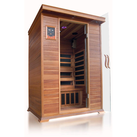 Sunray 2 Person Cedar HL200K Sierra Infrared Sauna