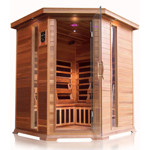 Sunray 4 Person Cedar HL400KC Bristol Bay Infrared Sauna