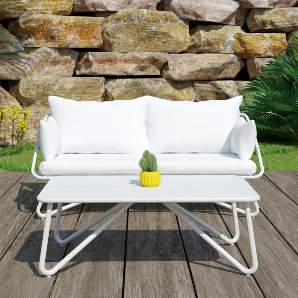 Teddi Outdoor Loveseat & Coffee Table