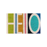 Hello Multi-Colored Doormat