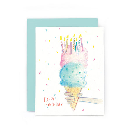 Birthday Ice Cream Cone Card