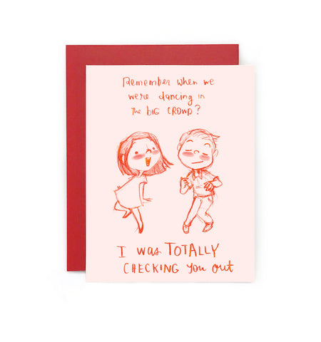 Crush Confessions : Dancing Greeting Card