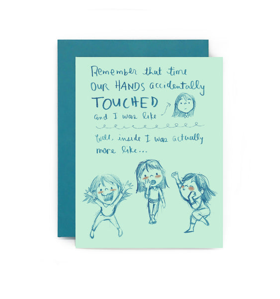 Crush Confessions : Hands Touch Greeting Card