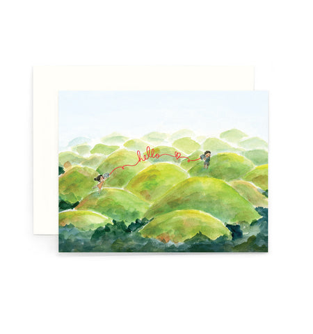 Chocolate Hills Hello Greeting Card