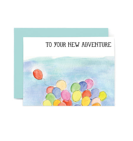 To Your New Adventure Greeting Card