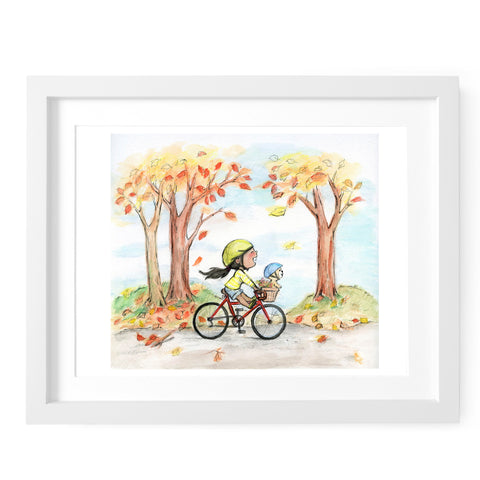 Autumn Bike Ride Art Print