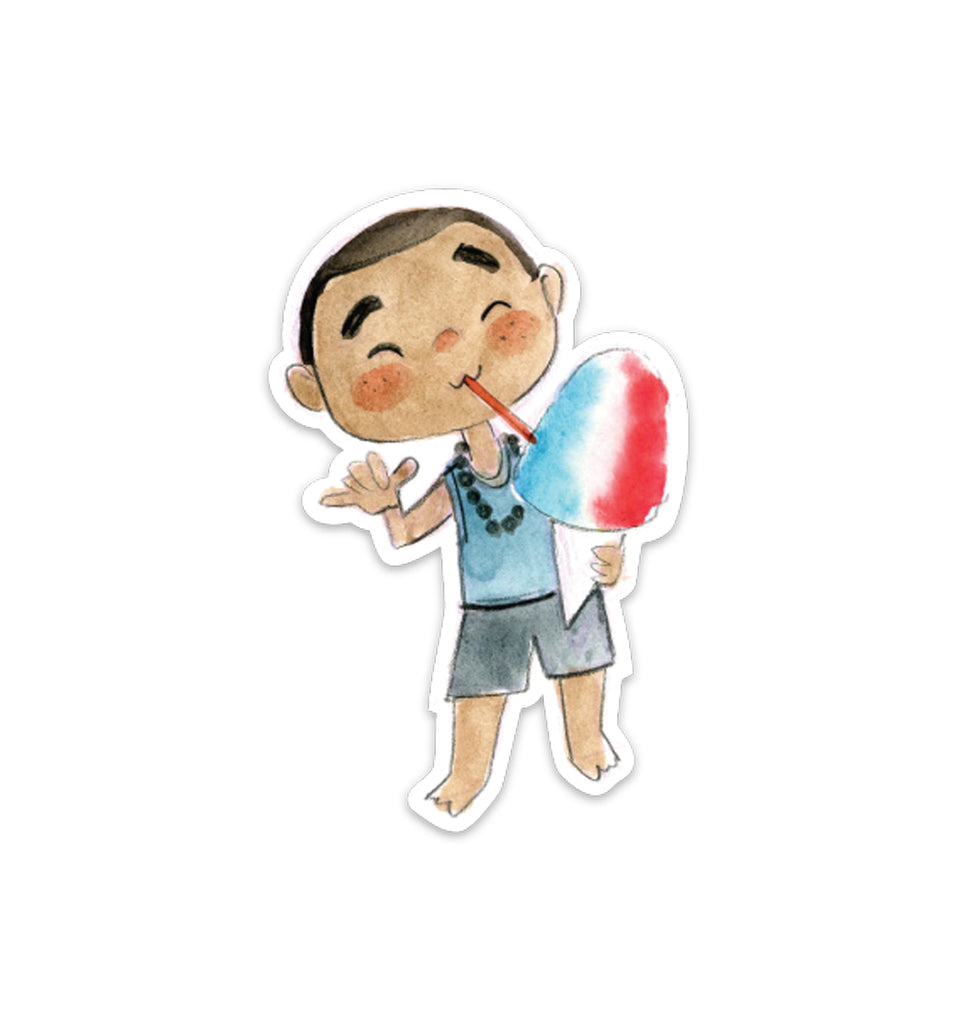 Shaved Ice Boy Vinyl Sticker