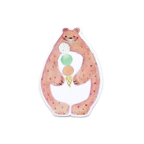 Bear Ice Cream Vinyl Sticker