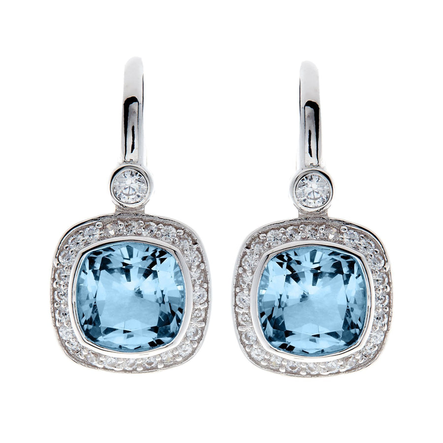 Sybela square blue earrings