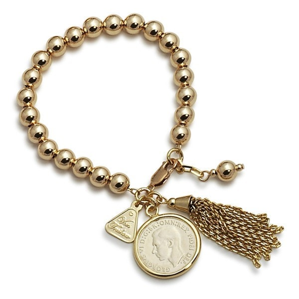 Von Treskow Golg Ball With Shilling Coin And Tassel Bracelet