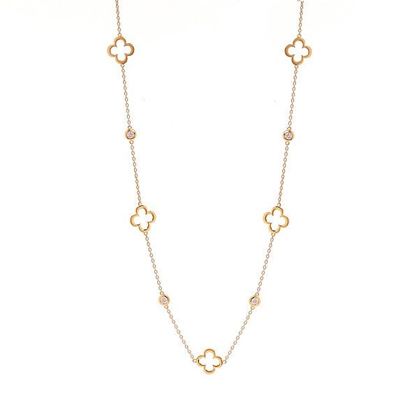 Sybella Gold Clover Necklace