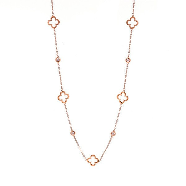 Sybella Rose Gold Clover Necklace