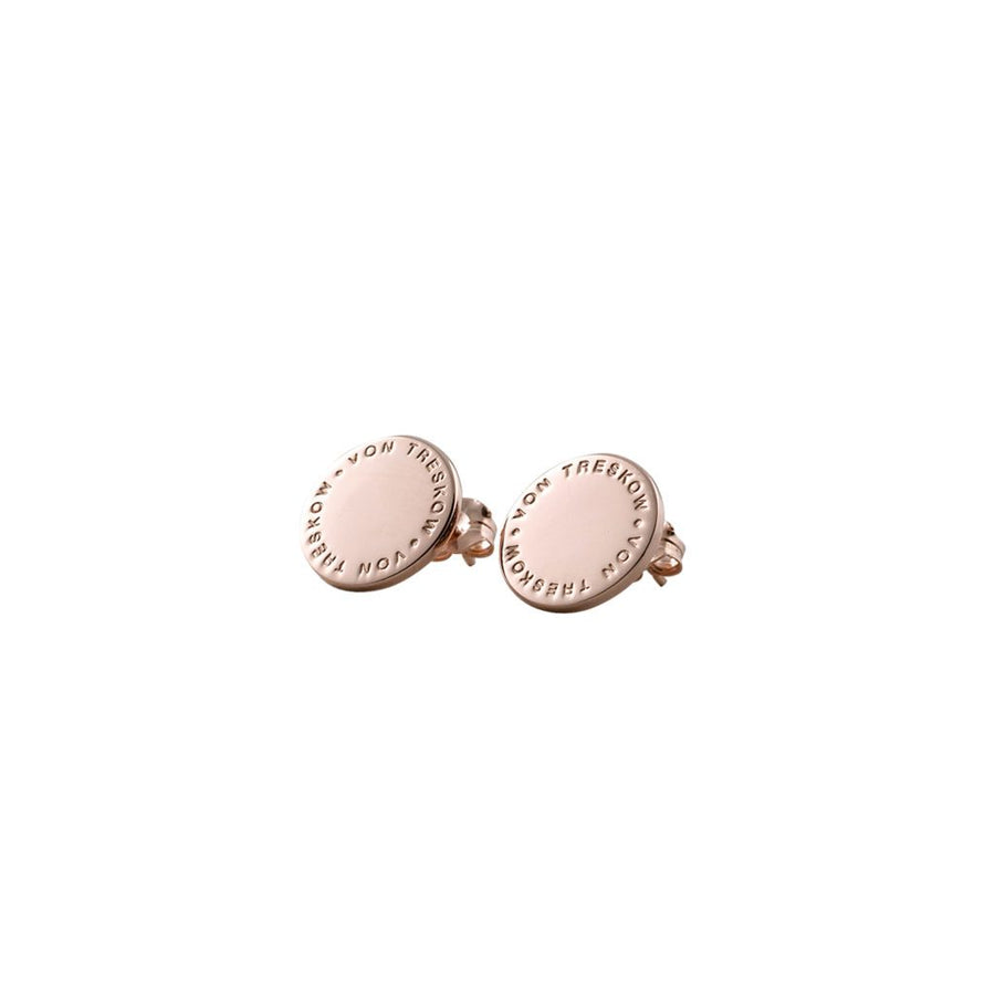 Von Treskow rose gold Plate earrings.