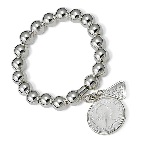 Von Treskow Shilling Coin On Ball Bracelet