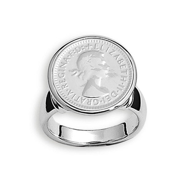 Von Treskow 6 Pence Ring Sterling Silver Ring