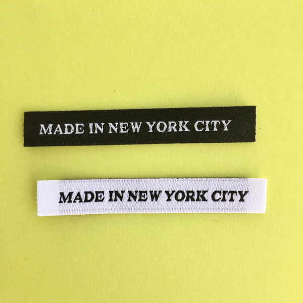 'MADE IN NEW YORK CITY' Woven Labels