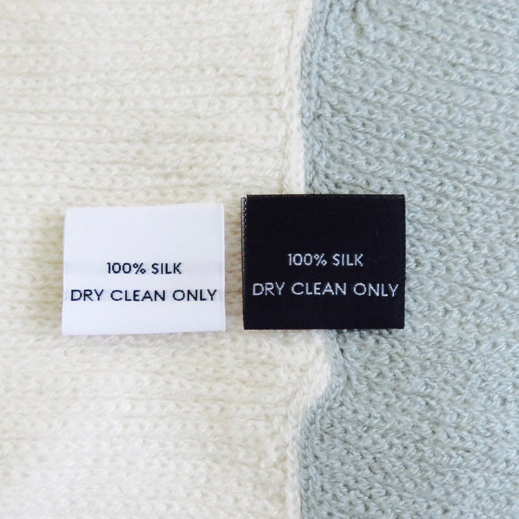 100% SILK - Garment Care Label