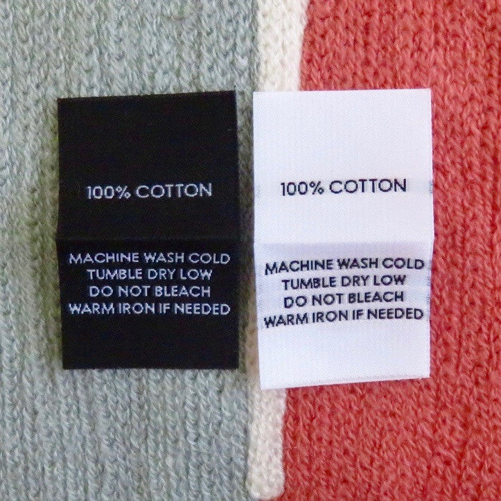 100% Cotton - Garment Care Labels