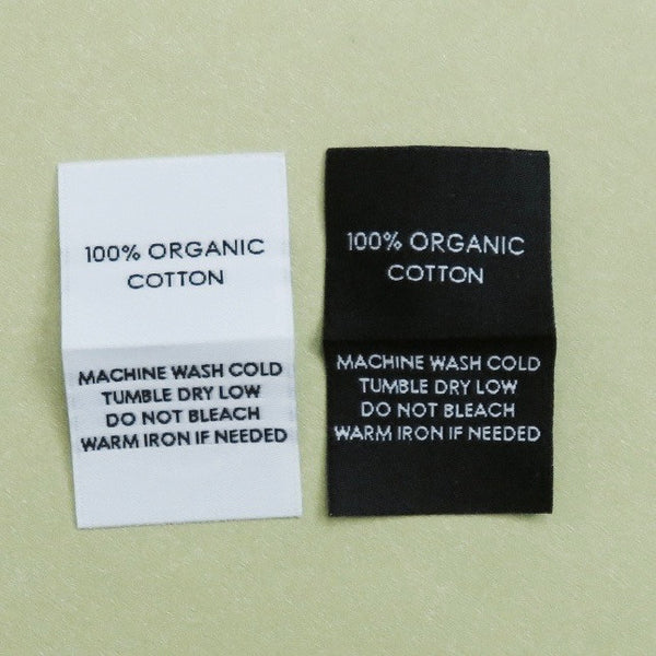 100% ORGANIC COTTON - Garment Care Labels