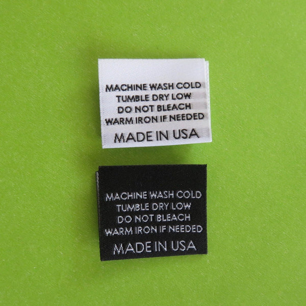 MACHINE WASH COLD (MADE IN USA) - Garment Care Label