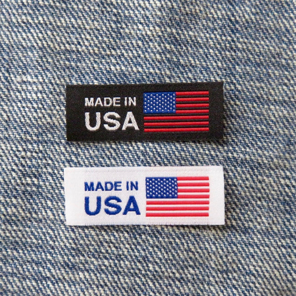 American Flag Made in USA Labels - Clothing Tag, Woven Label