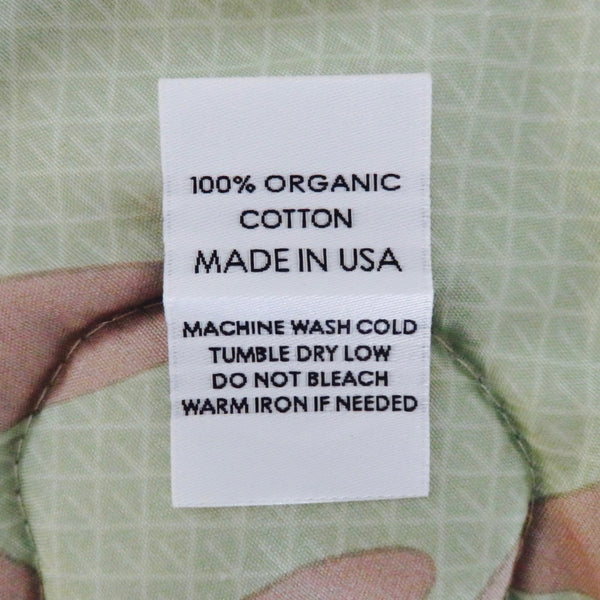 100% ORGANIC COTTON (MADE IN USA) - Garment Care Labels