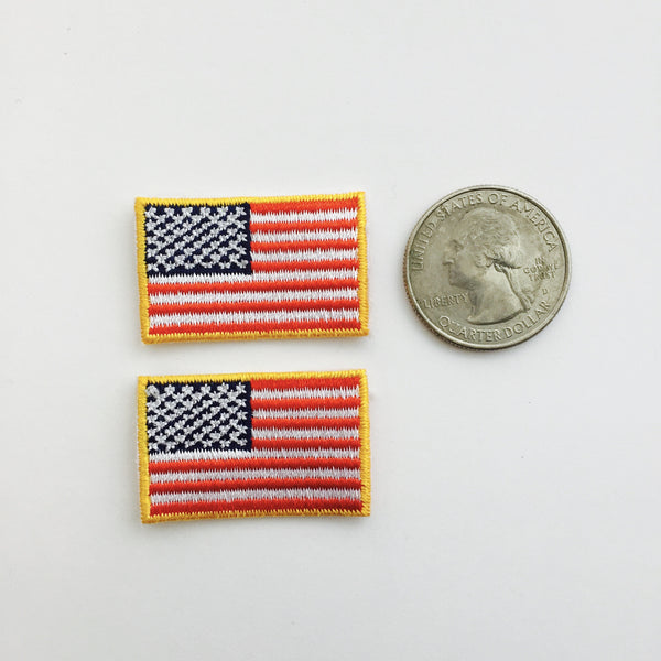 "American Flag Embroidered Patch Small (1 1/4"" X 3/4"")"