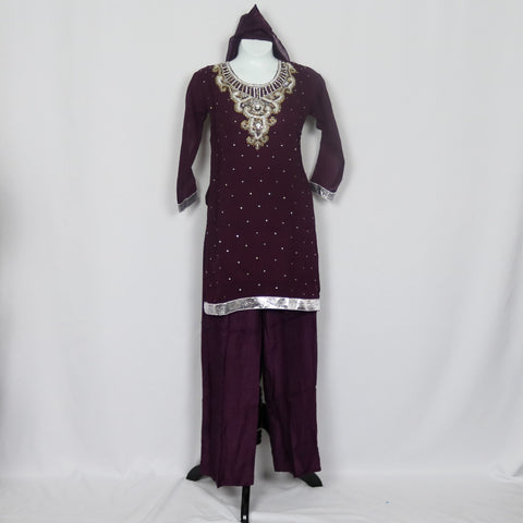 Dark Purple Shalwar Kameez