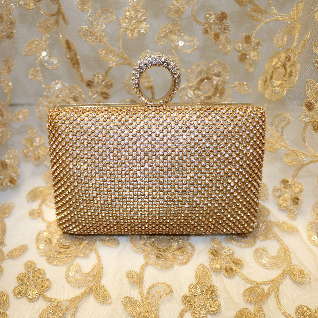 Almas Diamond Beaded Clutch