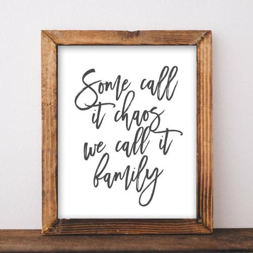 Some Call It Chaos We Call It Family - Printable - Gracie Lou Printables
