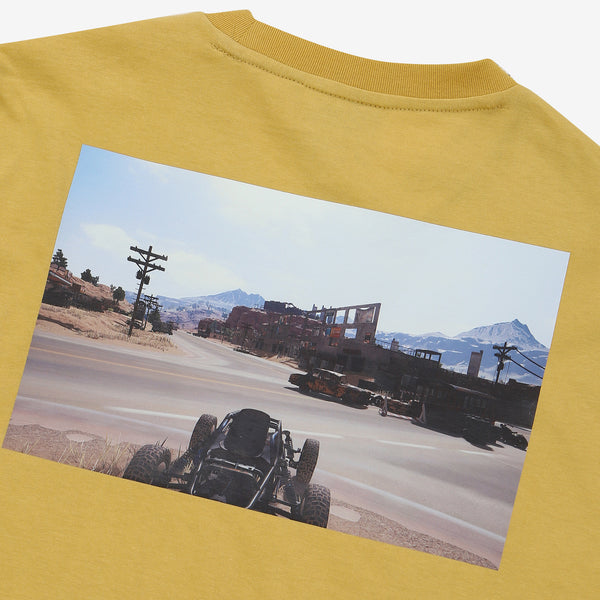 Fila x PUBG - T-shirt - Printed Gameplay - Tan - T-Shirt - Harumio