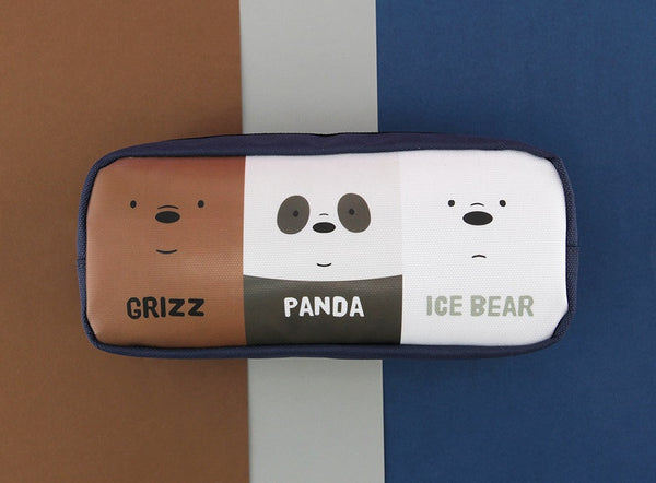 We Bare Bears -  Two Zipper Pencil Case - Bears