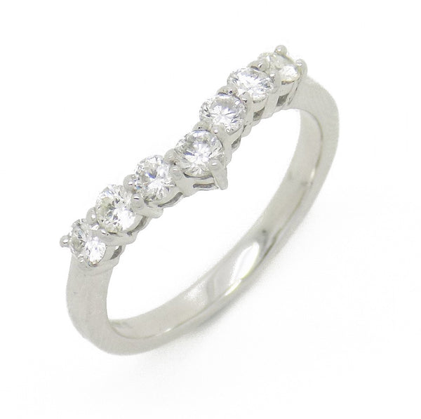 18ct White Gold Round Diamond Wishbone Ring