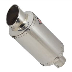 Lextek YP4 S/Steel Stubby Exhaust Silencer 51mm