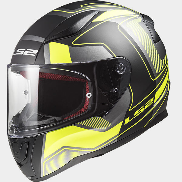 LS2 Rapid FF353 Carrera Matt Black/Hi-Vis Yellow