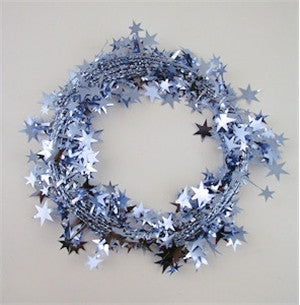 Ice Blue Star Garland