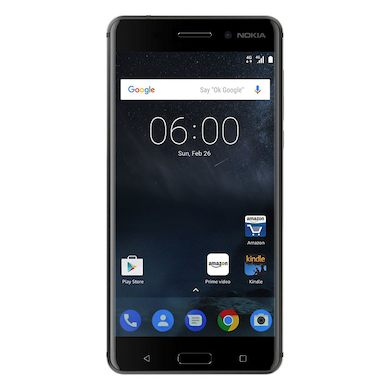 Nokia 6 (2017 32GB/3GB RAM, Single Sim, Black, Local Stock)