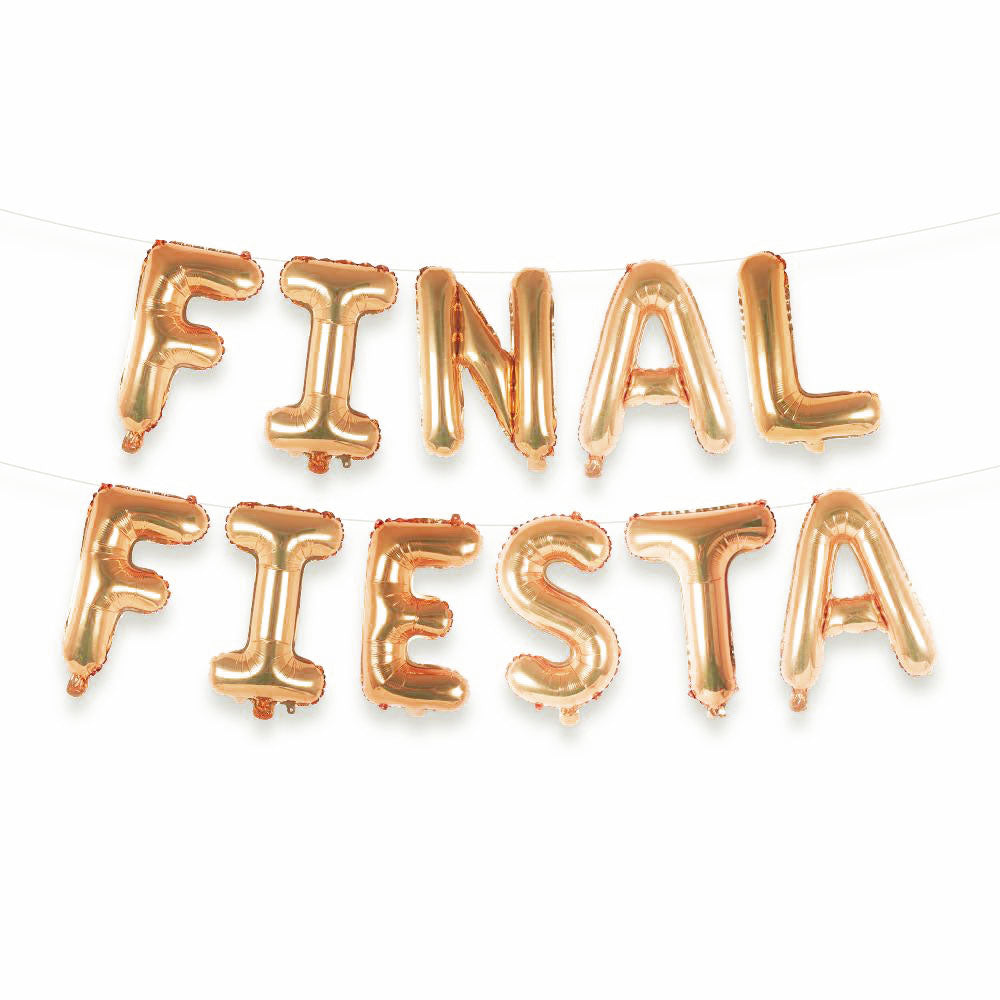 Final Fiesta Balloon Letter Kit - Rose Gold