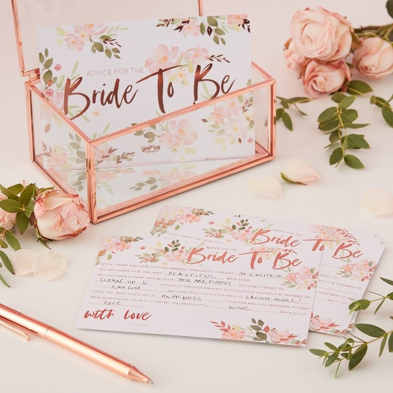 "Floral Bride To Be ""Mad Libs"""