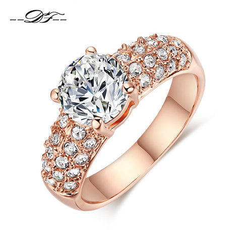 18K Rose Gold Engagement Wedding Ring - CIEB MOZ