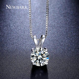 2ct AAA CZ Diamond White Gold Necklace - CIEB MOZ