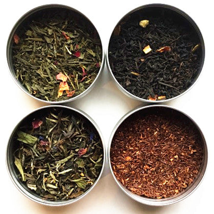 TEAliSe Best of Afternoon Loose Leaf Tea Sampler Collection Bestselling Cans 20 Servings of Tea Per Can