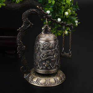 Dragon Carved Buddhist Good Luck Bell - Mindfulness Bell,  - Yemaya Luna
